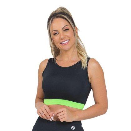 Top Feminino Fitness Cropped Verde