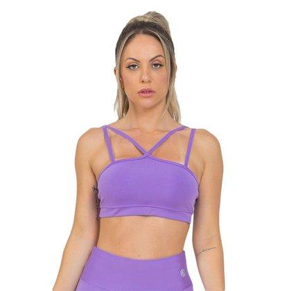 Top Feminino Fitness Galaxy Lilás