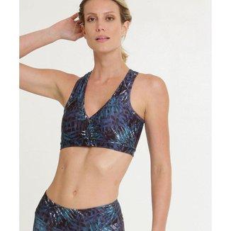 Top Feminino Fitness Nadador Estampa Tropical Marisa - 10040079509