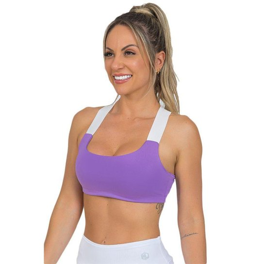 Top Feminino Fitness Neon Lilás - Lilás