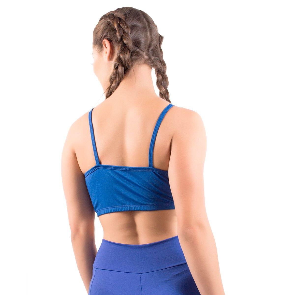 Fitness com Top Azul Tela e Top Fitness Alça com Royal wxqUUTt
