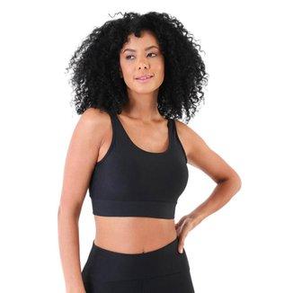 Top Fitness com Bojo Decote V nas Costas Basic - P
