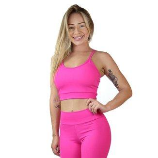 Top Fitness Cortininha Maravs Com Elástico Feminino