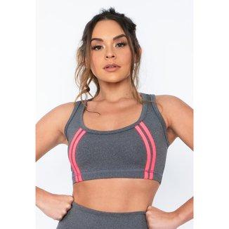 Top Fitness DMFIT Com Vivo Rosa Neon