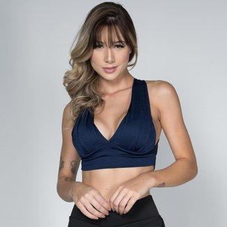 Top Fitness Feminino Com Bojo Roupa Para Academia Suplex Liso Treino