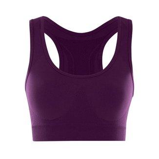 Top Fitness Feminino Microfibra Sem Costura She