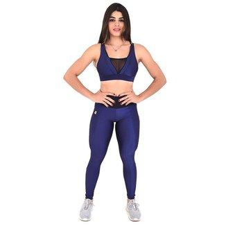 Top Fitness Insanity Glow Go Cor:AzulMarinho;Tamanho:GG