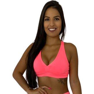 Top Fitness Nadador Bojo Removível Rosa