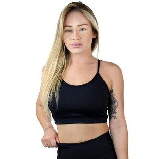 Top Fitness Nadador Maravs Poliamida Com Elástico Feminino