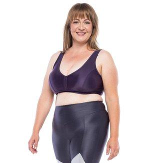 Top Fitness  Plus Size Plus Color  - Roxo Escuro Top Fitness Plus Size Plus Color - Roxo Escuro - Ps