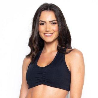 Top Fitness St Madame Costas em X Duplo Feminino
