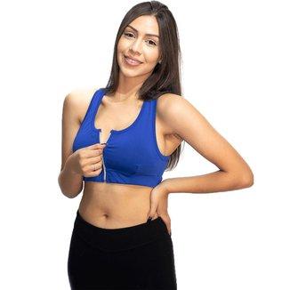 Top Fitness Wolfox Com Zíper E Bojo Removível Feminino