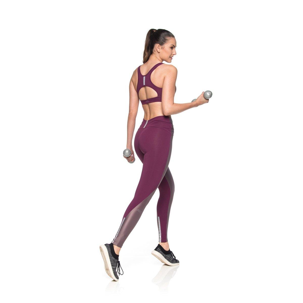 Reflect Top Fitness Fitness Bordô Top Zíper IwwRq