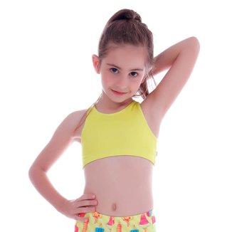 Top Infantil Legging Amarelo - Cecí