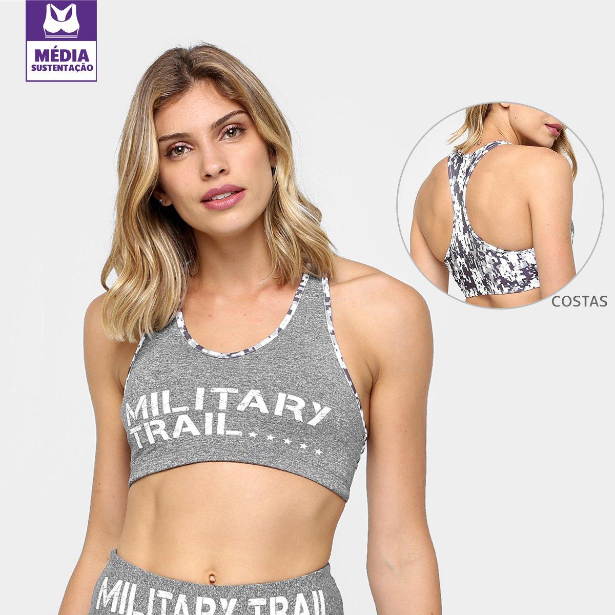 Midway Top Sustenção Branco Cinza Military USA e Trail Média rII5waq