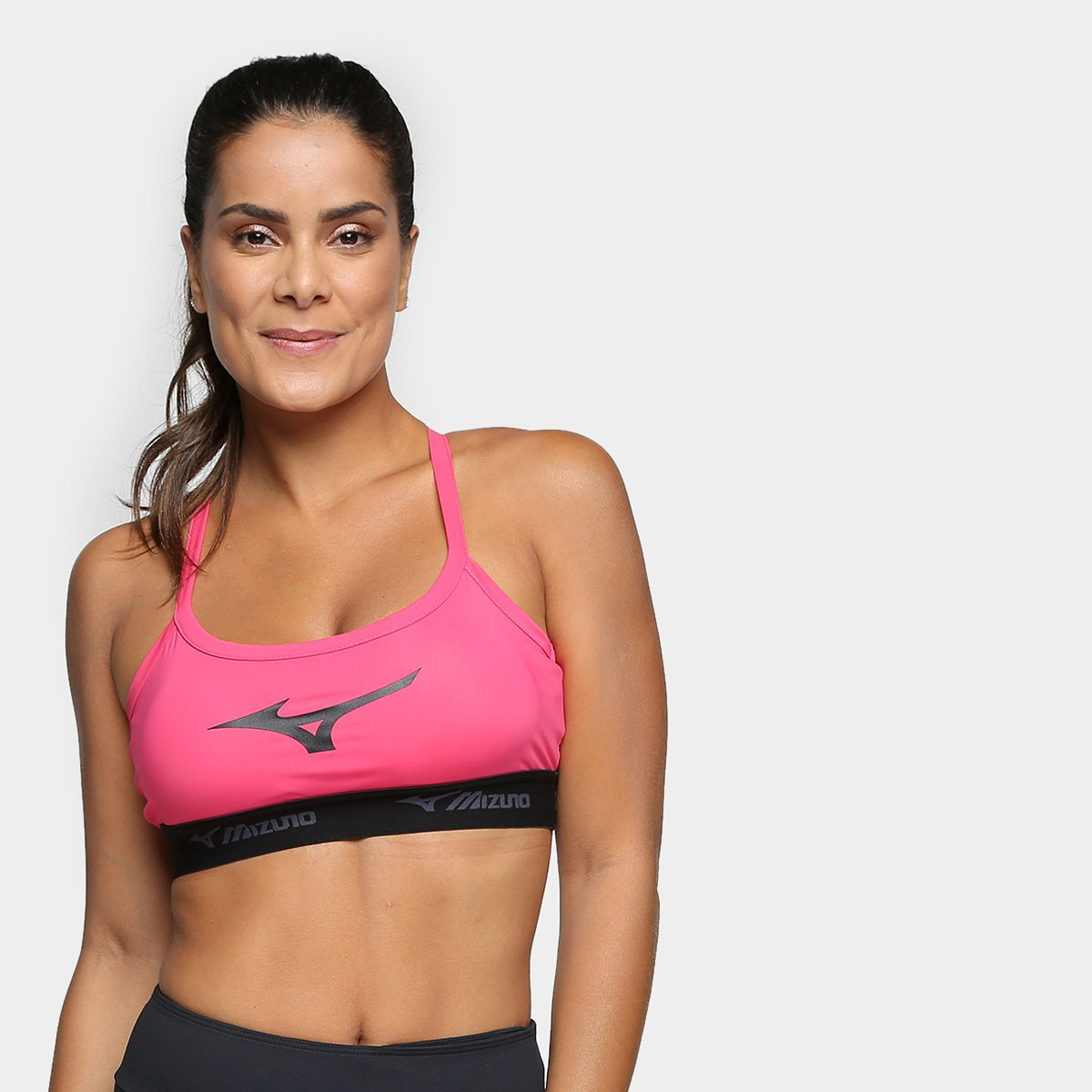 Top Preto Top Mizuno New Up e Alça Mizuno Pink zTqxPSw5