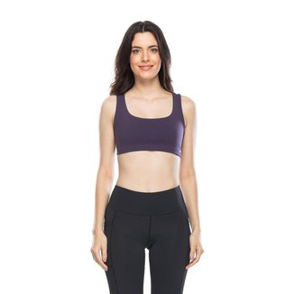 Top Mulher Elástica Fitness Oito Feminino