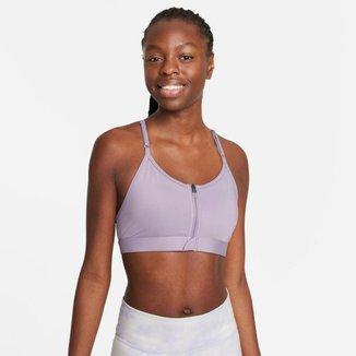 Top Nike Dri-FIT Indy Zip-Front Feminino