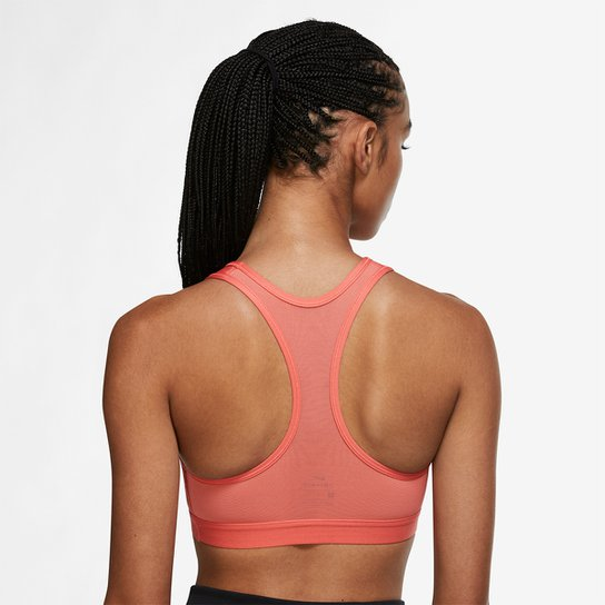 Top Nike Dri-FIT Swoosh Icon Clash Feminino - Coral