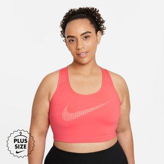 Top Plus Size Nike Dri-FIT Swoosh Icon Clash Feminino