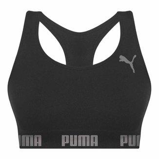 Top Puma Nadador Sem Costura - Nude