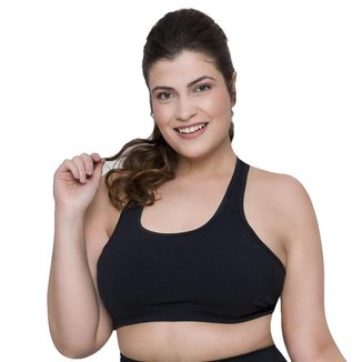 Top Selene Básico Fitness Plus Size Feminino - Pr