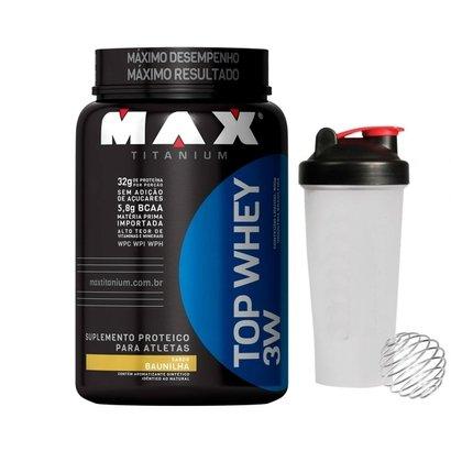 Top Whey 3W 900 g + Coqueteleira – Max Titanium
