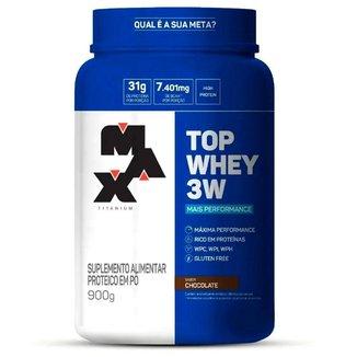 Top Whey 3w - 900g - Max Titanium  - Chocolate