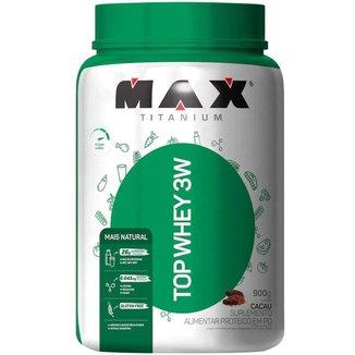 Top Whey 3W +Natural - 900g - Cacau - Max Titanium