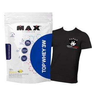 Top Whey Protein 3w 1,8 Kg Refil - Max Titanium + Camisa