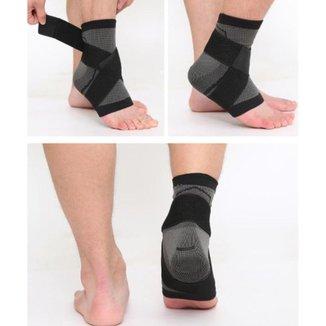 Tornozeleira Com Bandagem - Proteção Tornozelo Compressão