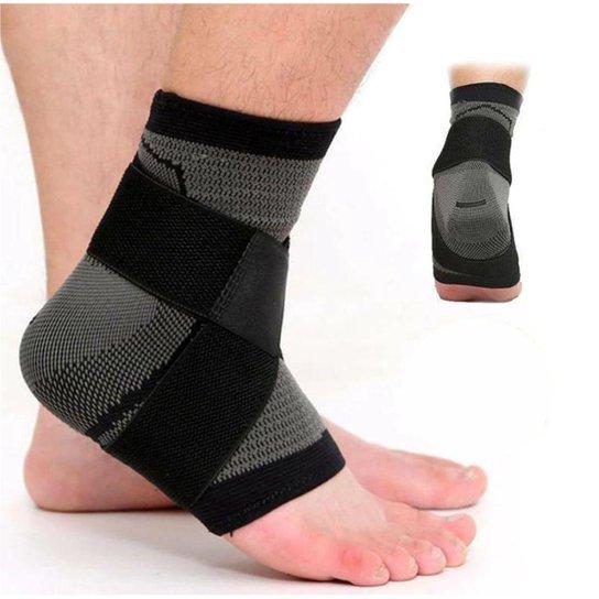 Tornozeleira Compressão Tensor E Dupla Bandagem - Veidoorn - Preto