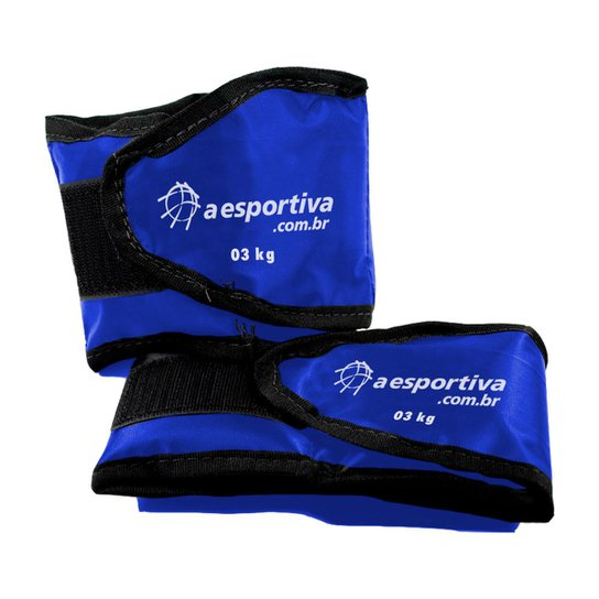 Tornozeleira De Peso A Esportiva 3 Kg - Azul