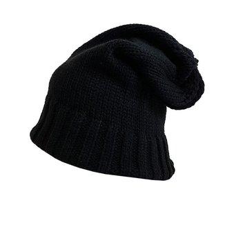 Touca de frio Masculina Feminina Gorro De lã forrado liso