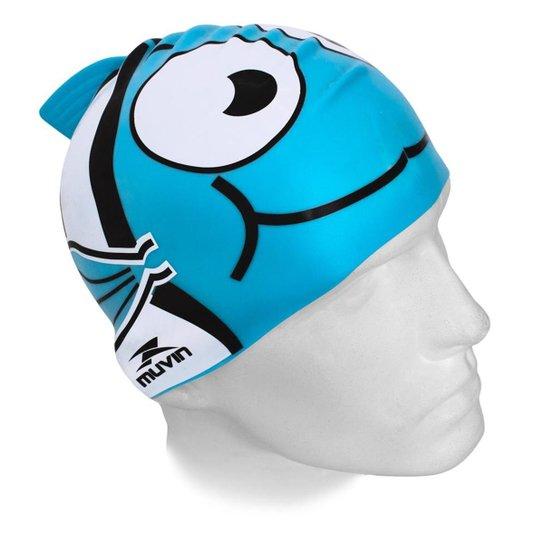 Touca de Natação em Silicone Kid Muvin TCS-400 - Azul