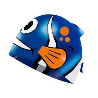 Touca De Natação Gold Sports Kids Fashion Fish De Silicone