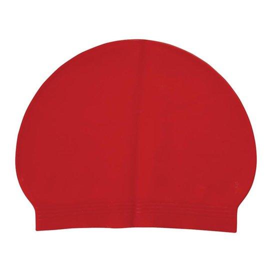 Touca de Natação Látex - vermelho - Vermelho