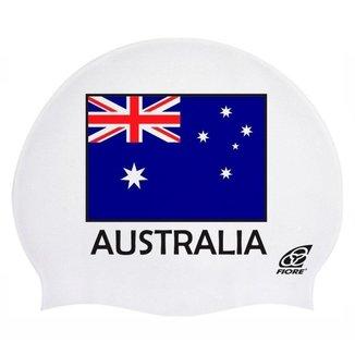 Touca de Silicone para Natação Bandeira da Australia