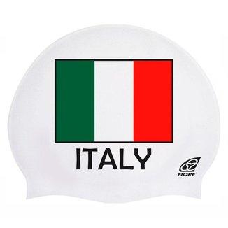 Touca de Silicone para Natação Bandeira da Itália