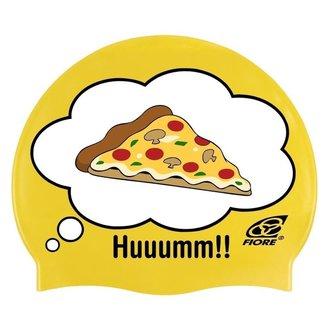 Touca de Silicone para Natação Huuumm Pizza