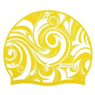 Touca de Silicone para Natação Psy Yellow