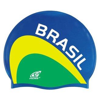 Touca de Silicone para Natação Team Brasil