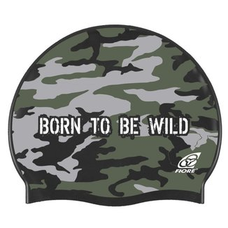 Touca para Natação em Silicone Born To Be Wild
