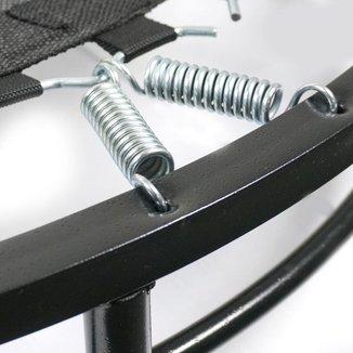 Trampolim cama elástica mini jump 32 molas em aço preto especial
