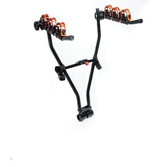 Transbike de Engate Triz Em V Para 3 Bicicletas Aço - Preto
