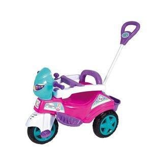 Triciclo Infantil Baby City Menina com Empurrador