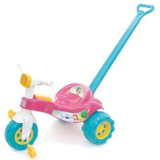 Triciclo Infantil Tico Tico Princesa Motoca Com Empurrador