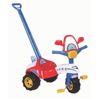 Triciclo Infantil Veletrol Tico Tico Empurrador Com Capacete