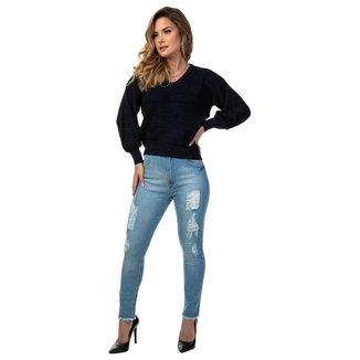 Trico Fem Guess Blusê - Navy Peony - Feminino