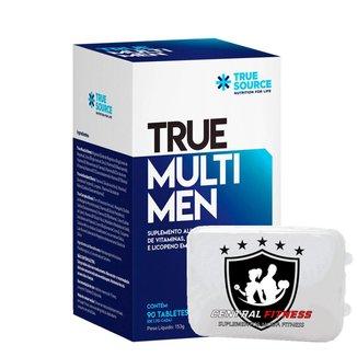 True Multi Men + Porta Cápsulas - True Source  Multivitamínico